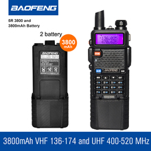 Original Baofeng UV5R 3800mAh Walkie Talkie Accessories Portable Talkie Talkie Ham Radio Transceiver With Extra battery