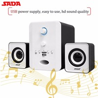 SADA D 223 Wireless Bluetooth 2 1 Stereo Speaker Indoor Combination Speaker SupportTF U Disk FM