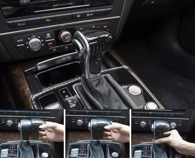 Carbon Fiber Car Gear Shift Knob Cover For AUDI A A S A S A - Audi car gear
