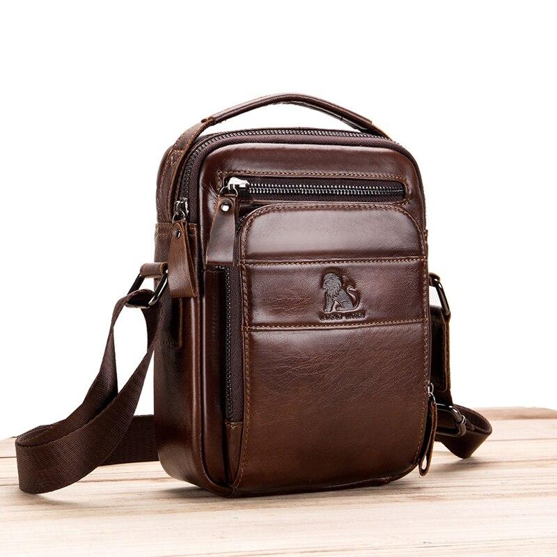 Retro Men Business Bag Genuine Leather Men\'S Shoulder Bag Cowhide Leather Men\'S Totes Handbag Crossbody Bag Messenger Bag Purse