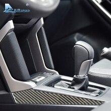 Airspeed 2 pezzi/lottp Carbon Fiber Center Console Adesivi Laterali Della Copertura Trim per Subaru Forester 2013 2014 2015 2016 auto-stlying
