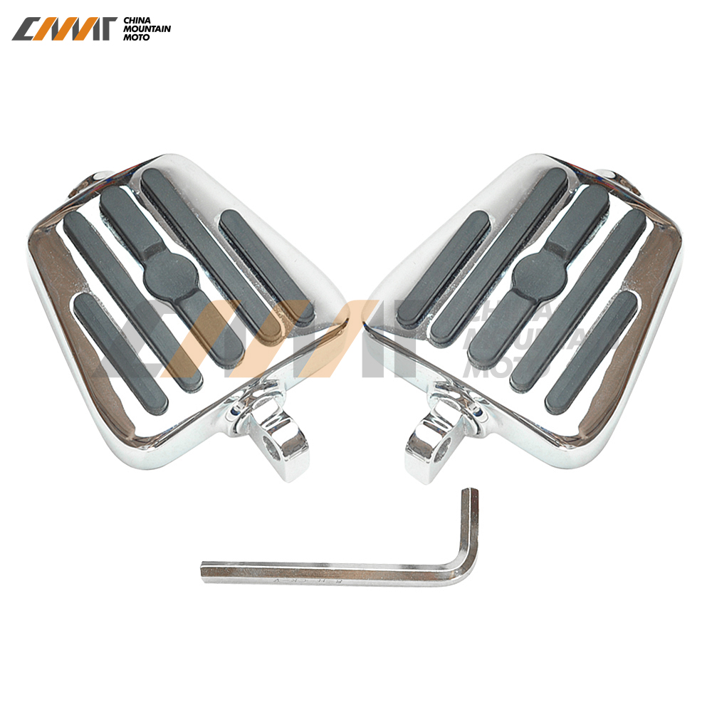 купить chrome Black Male Mount Footboards Foot Boards Pegs case for Harley Dyna Softail Sportster онлайн