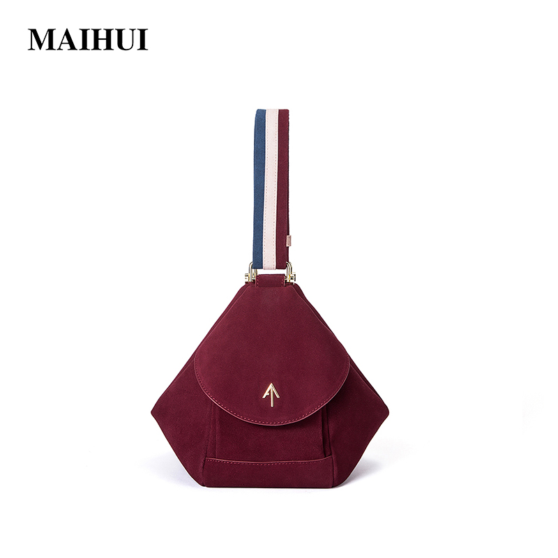 Maihui designer handbag high quality shoulder bags ladies cowhide real genuine leather new fashion women suede leather arrow bag ladies handbag new fashion designer tassel women genuine leather handbags high quality cowhide shoulder bags tote messenger bag