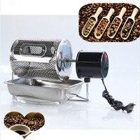Electric stainless steel coffee roaster machine peanut cashew chestnuts roasting baking equipment 110v 220v