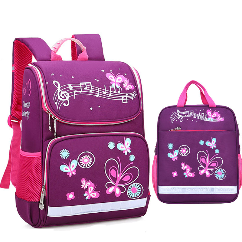 Children School Bags Set For Girls Boys Orthopedic Backpack Cartoon Butterfly Car School Bag Kids Satchel Knapsack Mochila