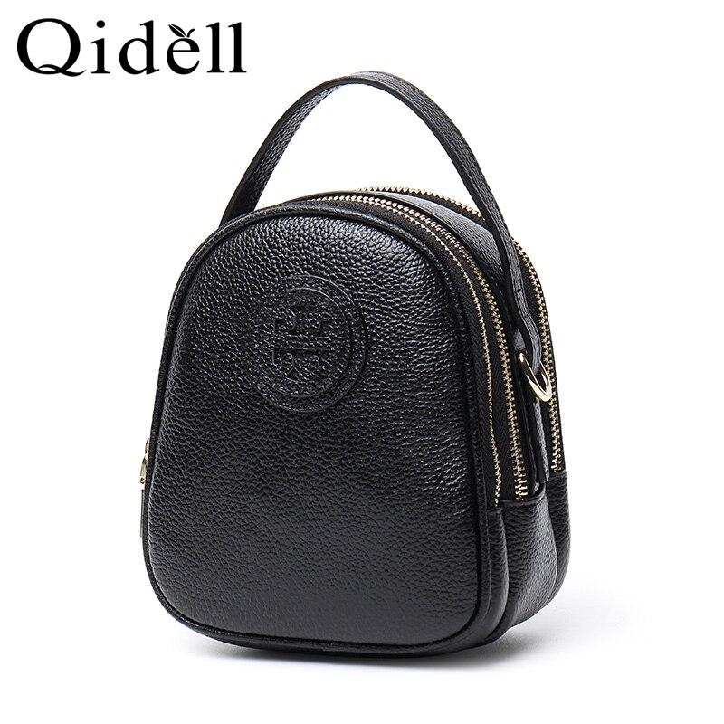 Genuine Leather Shoulder Bag For Women With Half Texture Hardware Chain Half Leather Belt Shoulder Straps