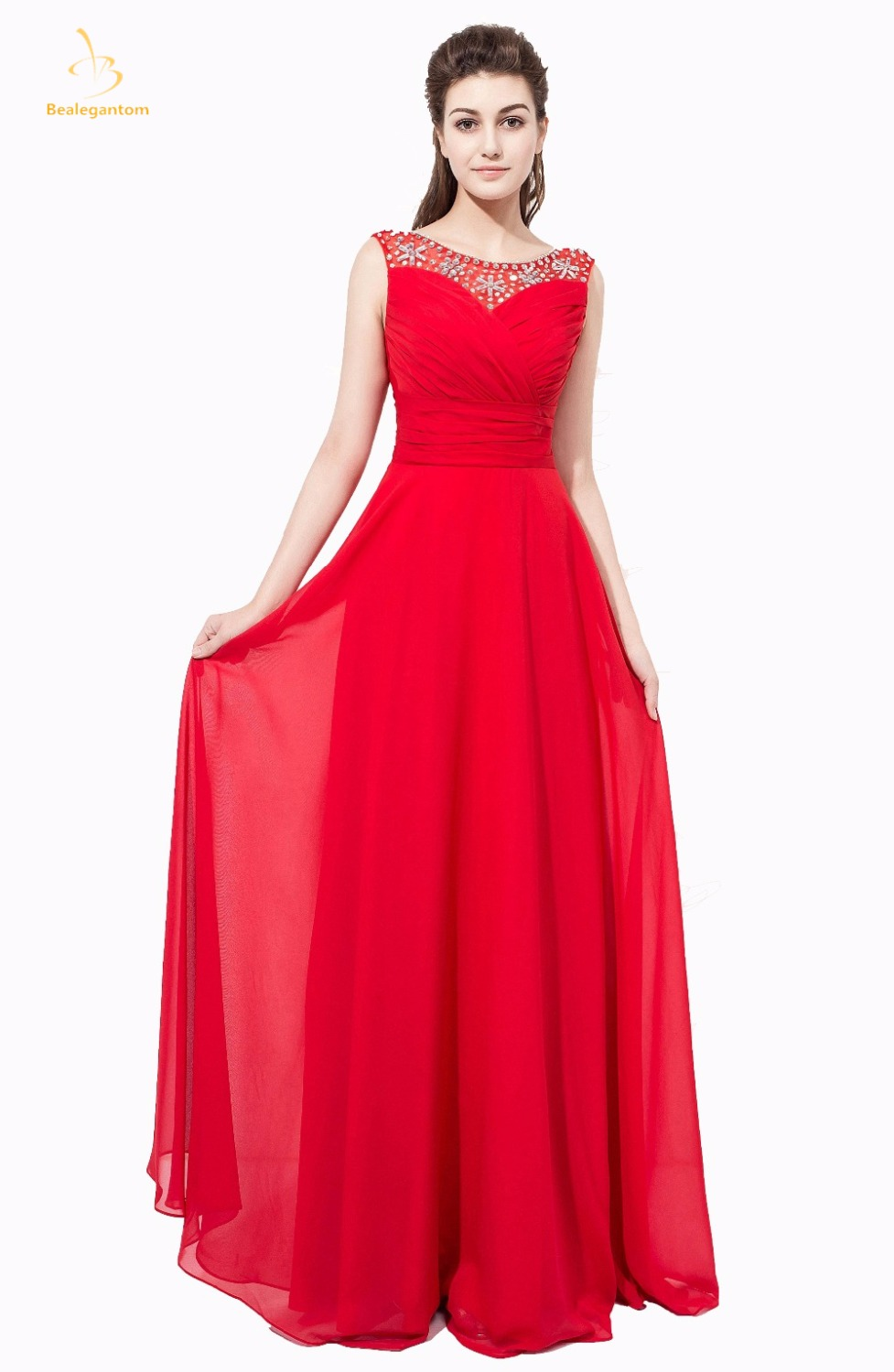 Bealegantom Real Photo 2018 Sweetheart Red   Prom     Dresses   With Lace Up Formal Evening Party Gowns Vestido In Stock QA1368