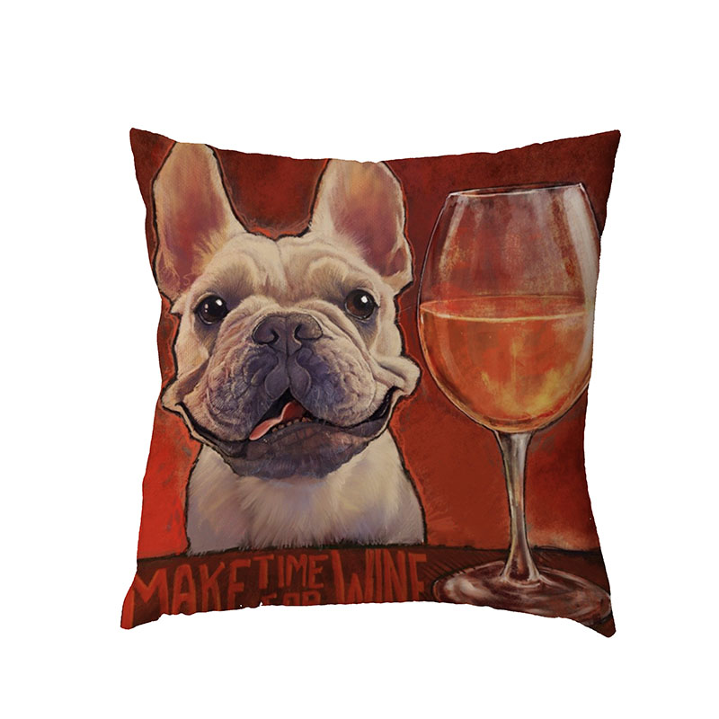 High Quality Corgi Schnauzer White Throw Pillow Case Baby Birth Gift Decor Waist Support Polyester Peach Skin Dogs Cushion Cover
