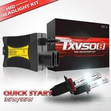 HESITE 2PCs 12V DC 35W 55W 9005 HB3 Slim Ballast Kit HID Xenon Headlight Bulb Auto