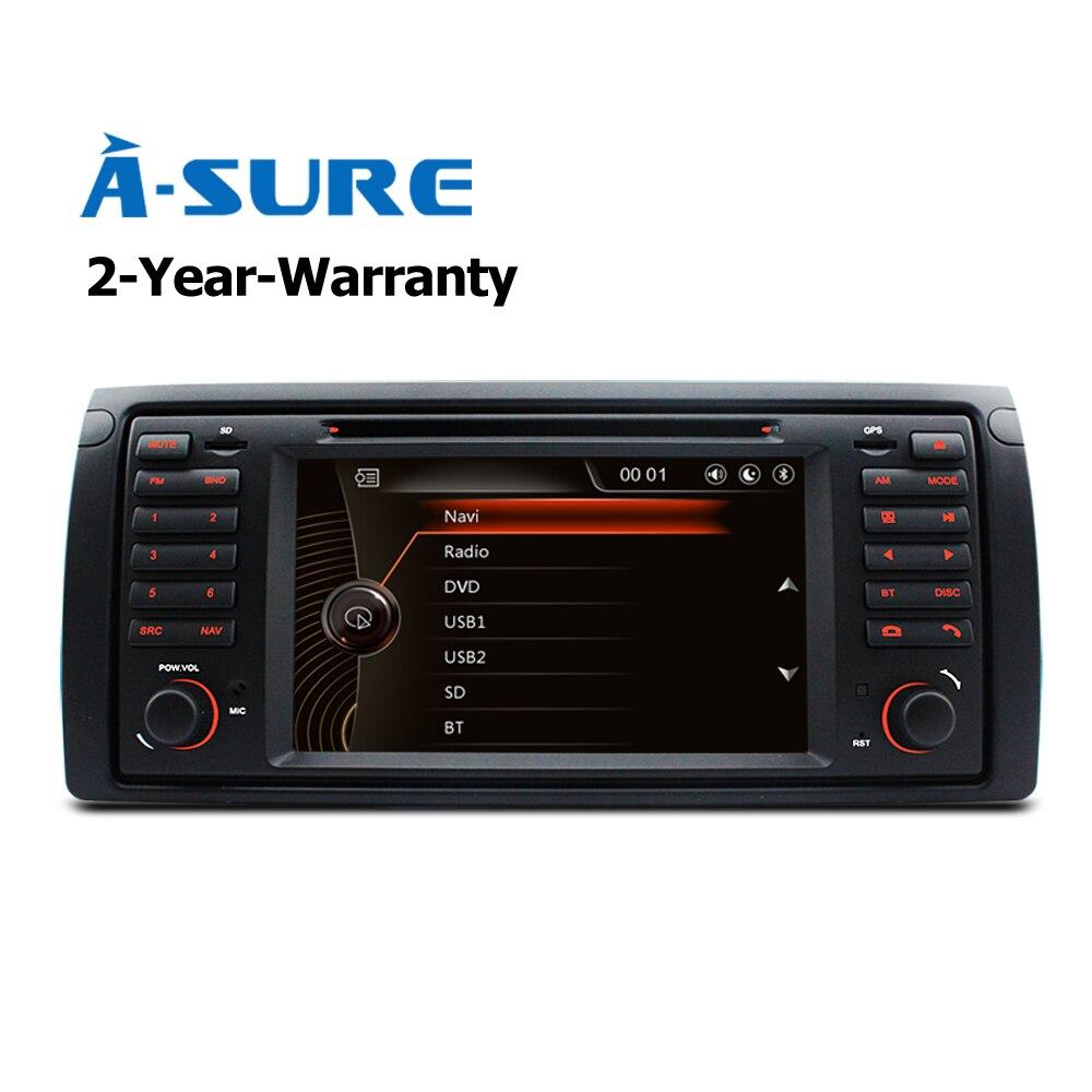a sure car dvd player gps stereo radio navigation for bmw e39 x5 5 series e38 e53 bluetooth usb. Black Bedroom Furniture Sets. Home Design Ideas