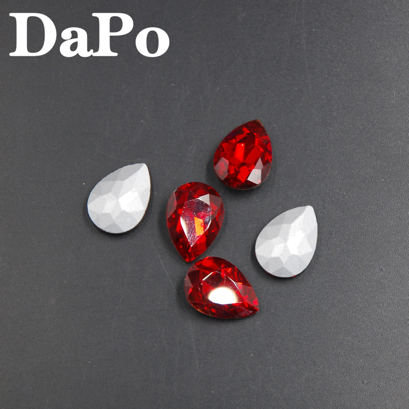 Red Light Siam Color Droplet Shape Teardrop Glass Crystal Point Back Fancy  Stone For Dress Jewelry Findings 4x6mm~20x30mm-in Rhinestones from Home    Garden ... 4f57bb7b6d33