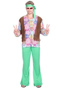 Amor Paz Sexy Hippy 60 S 70 Hippie Retro Vestido Elegante Disfraz Para Adultos Hombres Adultos Disfraces De Halloween