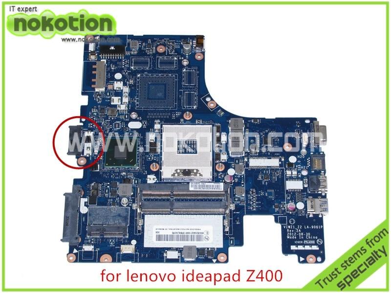 все цены на  NOKOTION VIWZ1 Z2 LA-9061P Rev 2A Mainboard For lenovo Ideapad Z400 laptop motherboard FRU 04W4140 intel HD4000 HM76 14''  онлайн