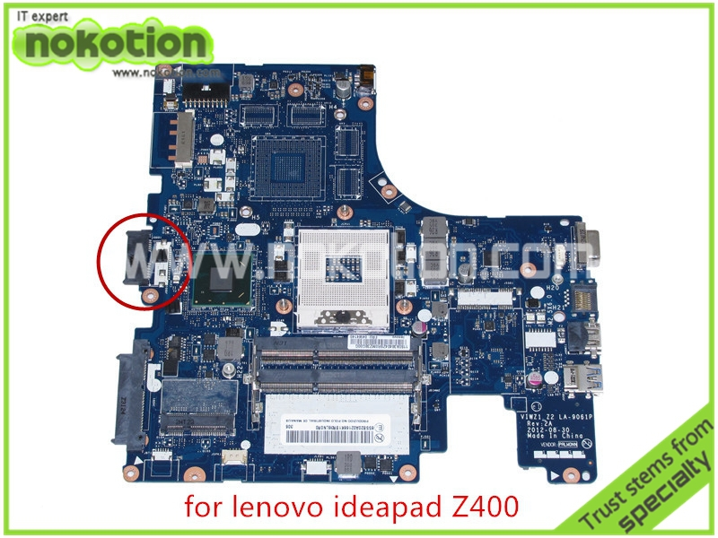 VIWZ1 Z2 LA-9061P Rev 2A Mainboard For lenovo Ideapad Z400 laptop motherboard FRU 04W4140 intel HD4000 HM76 14'' brand new ziwb2 ziwb3 ziwe1 la b092p rev 1 0 for lenovo b50 70 laptop motherboard mainboard