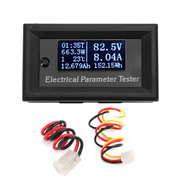 1Pcs OLED Module Multi-functional Wattmeter 33V 10A 7-in-1 Electrical Parameter Tester Current Time Capacity Temperature Tester
