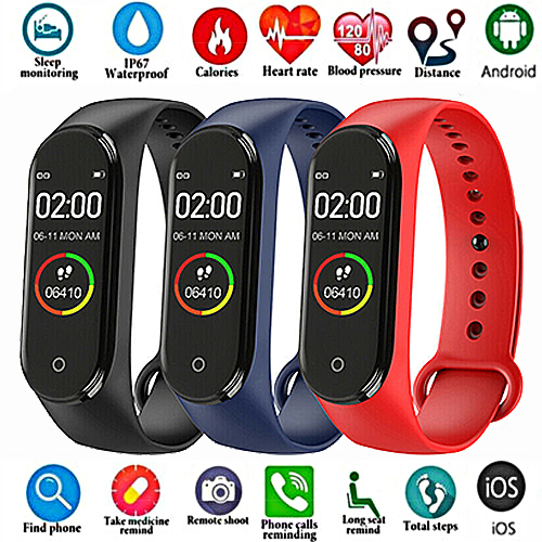 Watch Men Health-Bracelet Heart-Rate Fitness Sports Smart Women Fashion M4 Top And Tracker