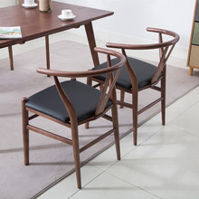Китайский обеденный стул, стул для ресторана Shimu West, скандинавский стул для кофейни, домашний бревенчатый Чайный домик, Y спинка стула