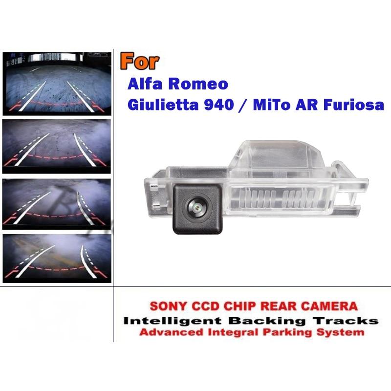 Directive Parking Tracks Lines Rear Camera For Alfa Romeo Giulietta 940 MiTo AR Furiosa CCD HD