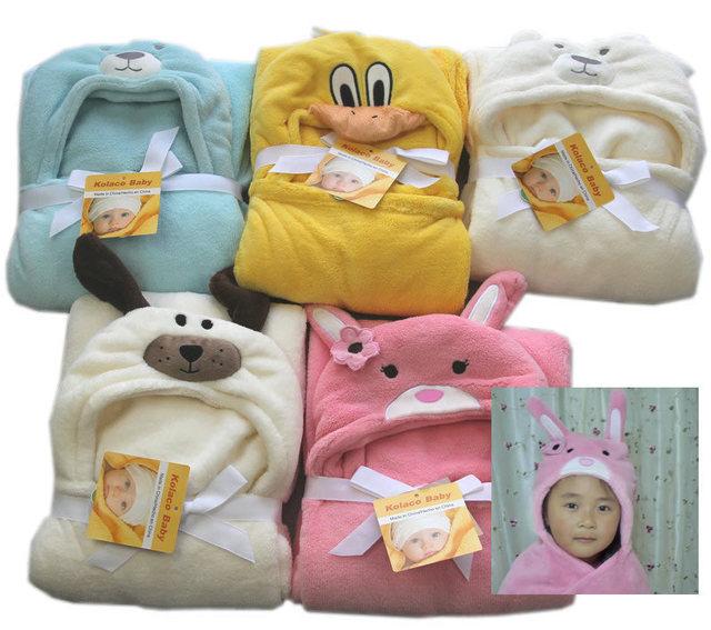 Novos cobertores do bebê ultra macio e fofinho com capuz cabo manto toalha de banho animais molda frete grátis 100 cm x 100 cm muitas cores