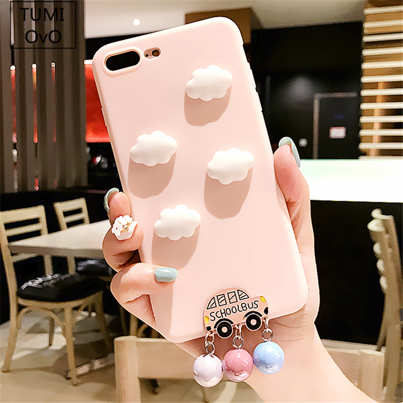 TUMI.OvO Cute 3D Clouds for iPhone X Case Candy Pink Color