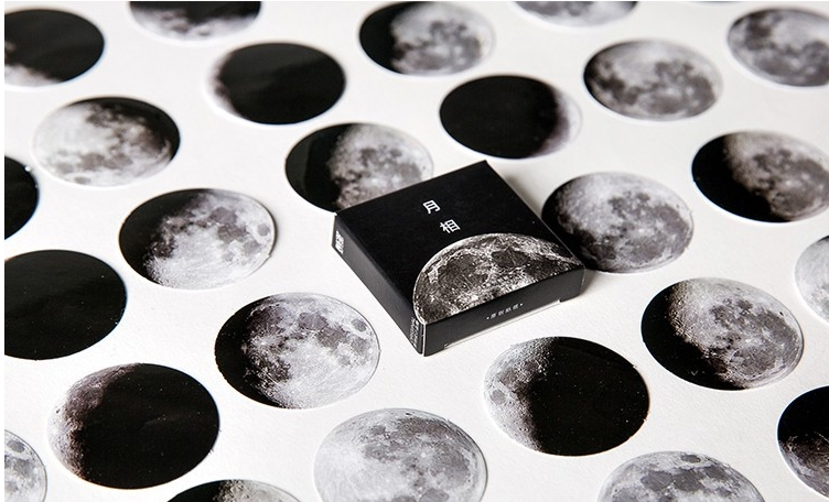 S33- Moon Universe Diy Decorative Stationary Sticker(1pack=45pieces)
