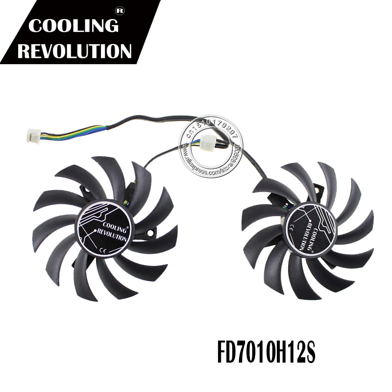 2pcs/lot FD7010H12S T128010SH 75mm GPU Graphics Card Fan Cooler For ASUS GTX760-DC2OC-2GD5 Video Cards Cooling