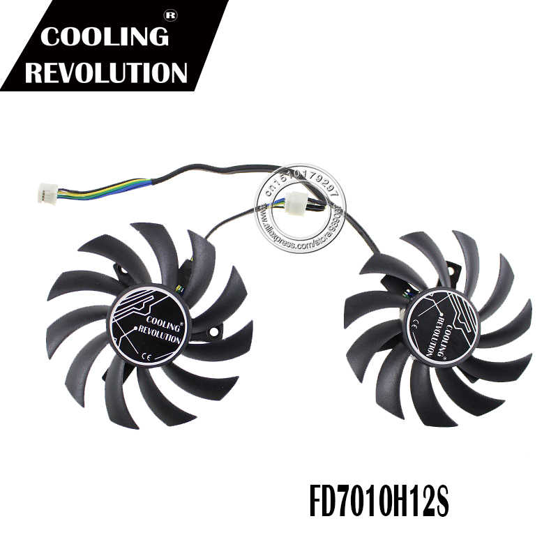 2 יח'\חבילה FD7010H12S T128010SH 75mm GPU כרטיס גרפי מאוורר Cooler עבור ASUS GTX760-DC2OC-2GD5 וידאו כרטיסי קירור