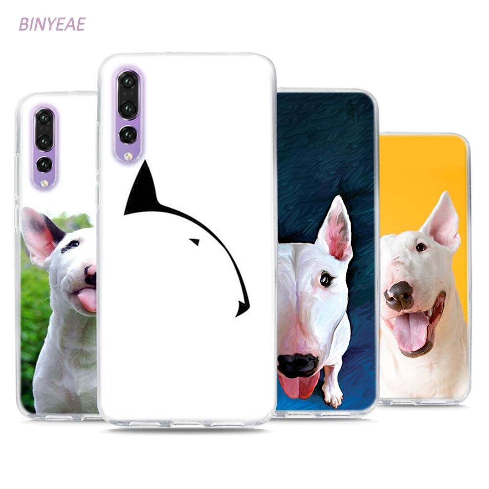 BINYEAE Bullterrier bull terrier Style Clear Soft TPU Phone Cases for Huawei P20 Lite Honor 9 8 Lite 7X 6A 6X 6C Pro