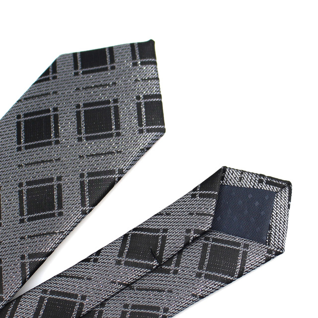 New Men's casual slim ties Classic polyester woven party Neckties Fashion Plaid dots Man Tie for wedding Business Male tie 10