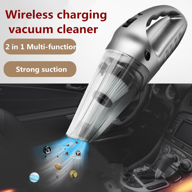 2018 Wireless Car Vacuum Cleaner 120W 4000Pa Dry & Wet Dual Use High Power Hepa Filter Vehicle Auto Electric Cleaning Tool 12v 120w car vacuum cleaner wet and dry auto cleaning tool