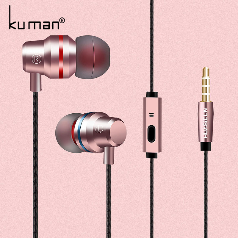 Kuman Sport Headsets In Ear Earphone with Microphone Super Bass Headset For iphone xiaomi huawei Phone PC Gaming YL-HW3
