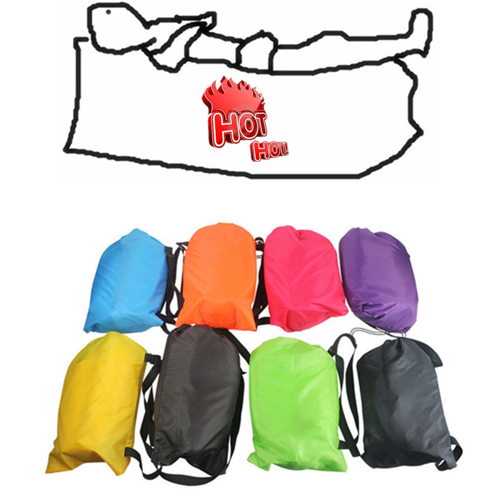 Inflatable Lazy Air Bed Lounger Couch Chair Sofa Bag Hangout Camping Beach Bean