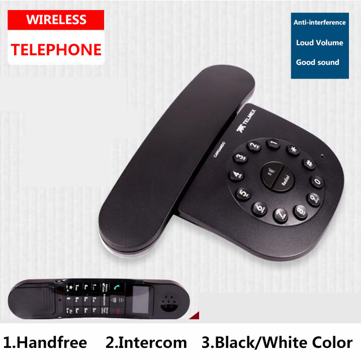 цена на DECT 6.0 Plus Digital Cordless Phone Call ID Mute Handfree Wireless Home Telephone For Office Bussiness Black White
