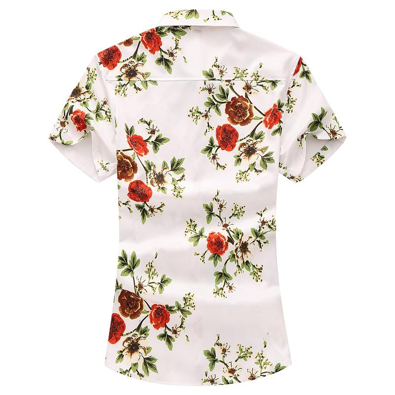 Social Shirt Male Flower Short sleeve Floral Blouse Men Summer Plus size Hawaiian Shirt for Men clothing Camisa Dress Casual in Casual Shirts from Men 39 s Clothing