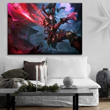 Wall Artwork Painting 1 Pcs Type Style Home Decor League Of Legends Dark Horns Kalista Moon Spear Mask Canvas Print Game Poster цена 2017