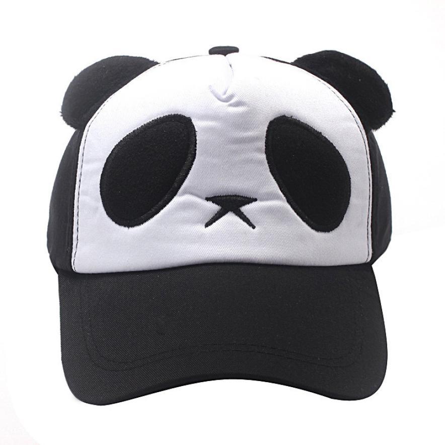 Fashion Cute Women 5 Color Cotton Cute Panda Baseball Cap Hat Womens