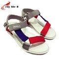 Летом 2016 Туфли На Платформе Обувь Новая Мода Женщины Сандалии Повседневная Вьетнамские Обувь Смешивать Цвета Пляжные Сандалии