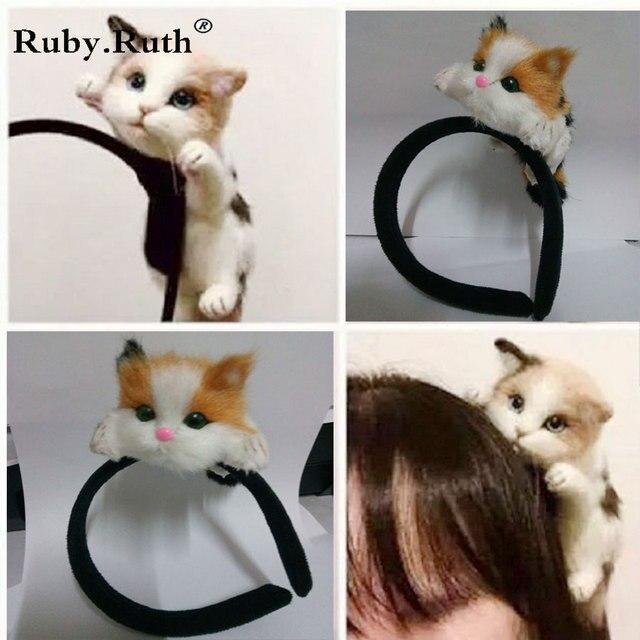 2017 Hot Japanese Style Mori Girl Lolita Kawaii Cat Head Hair bands Party Headdress Headwear Ornament Hair jewelry Accessories