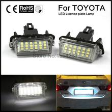 2PCS car  LED number LICENSE PLATE LIGHT fit For Toyota Camry YARISL EZ VIOS COROLLA LEVIN 12v цена