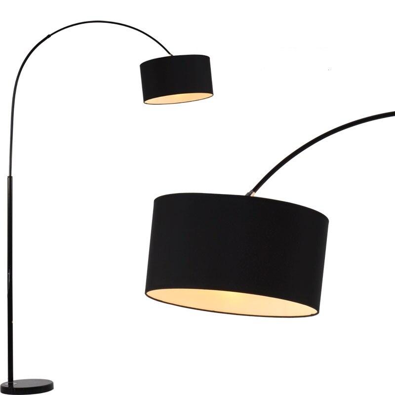 Fashion Design Modern Stainless Steel Floor Lamp For Living Room Bedroom Bedside Fishing Black White Staande 110 240V