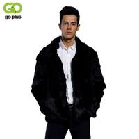 GOPLUS Men Faux Fur Coat 2017 Winter Warm Fur Coat Fashion Fake Fox Fur Male Outwear