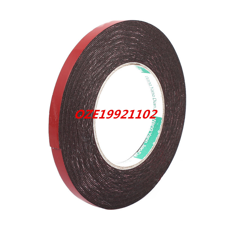 1pcs 10mm x 1mm Car Vehicle Self Adhesive Shock Resistant Foam Tape 10M Length 25mm x 1mm white double sided self adhesive sponge foam tape for car 10m length
