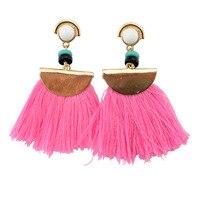 Euroupean Style Sweet Earring Elegant Women Ear Stud Earrings Creative Female Long Tessel Earrings Jewelry Bijoux