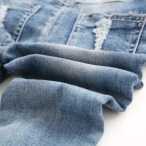 Image 5 - 3 8t子供のジーンズ子供のジーンズのデニムズボン韓国の子供のジーンズオーバーオールよだれかけパンツジーンズのための子供の男の子服