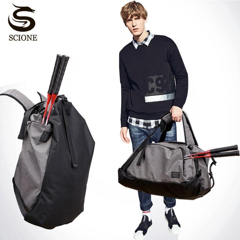 Hot Multi-function Men Male Travel Handbag Portable Bags Large Capacity Shoulder Bag Backpack for Shoes Wet and Dry Duffel Bag цена