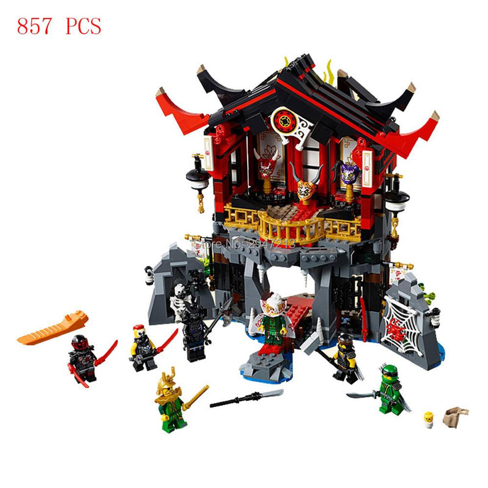 hot Legoings NinjagoINGlys movie city devil resurrection temple Building Blocks mini Lloyd figures brick toys for children gift 1326pcs ninjaos temple of ninjagoes blocks set toy compatible with legoings ninja movie building brick toys for children
