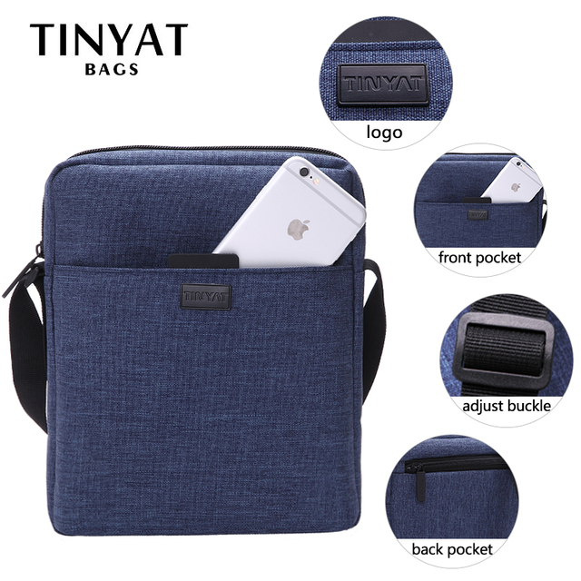 Men Handbag Bag New Male Men's Shoulder Bag For Ipad Canvas Crossbody Bag Light Waterproof Messenger Bag Casual Blue 5