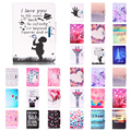 Butterfly Print Flip Pu Leather Cover case for Apple iPad 5 Ipad5 tablet stand case For Apple ipad Air 1 9.7'' #R