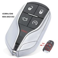 KEYECU Upgrade Replacement Remote Key Fob 433MHz ID46 for Chrysler Jeep Dodge 2011 2018 FCC: M3N 40821302