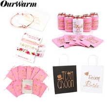 OurWarm Bridesmaid Gift Wedding Party Favors Bags Can Cooler Bride Tribe Favor Bachelorette  Supplies Bridal Shower Decor